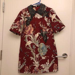 Zara bloggers fave dress. Jacquard fabric.